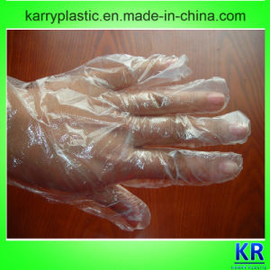 Clear Safety Disposable Plastic Gloves for Household with Outerbag pictures & photos