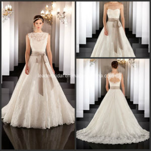 New Ball Gowns Lace Sash Boat Neck 2016 Wedding Dresses Z8043 pictures & photos