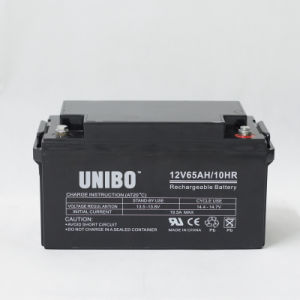 VRLA Battery Rechargeable AGM Lead Acid Battery 12V65ah Solar Battery pictures & photos