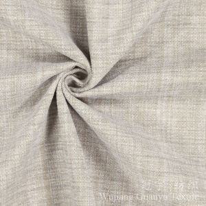 Soft Linen 100% Polyester Upholstery Fabric for Decoration pictures & photos