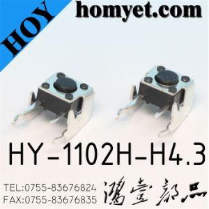 6*6*4.3mm Round Hangle with Registration Mast Tact Switch (HY-1102H-H4.3) pictures & photos
