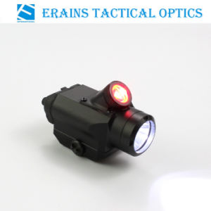 Tactical Compact Pistol Weapon 225 Lumens CREE Q5 LED Flashlight with 45 Degree 25 Lumens Red LED Light /Torch (ES-45QD) pictures & photos