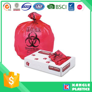 Plastic Custom Printed Biohazard Garbage Bag Used in Hospital pictures & photos