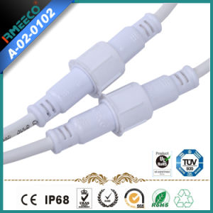 Waterproof Cable Connector 2-6 Pin M18 White Color