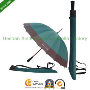16 Ribs Rain Straight Golf Umbrellas with Printed Logos (GOL-1627B) pictures & photos