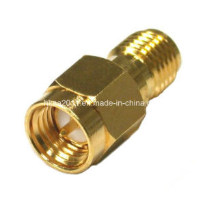 Gold Plated Brass Male to Female Plug Adapter Connector pictures & photos