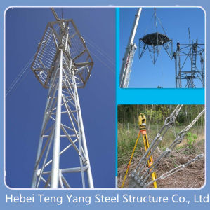 Galvanized Steel Connection Guyed Telecom Tower pictures & photos