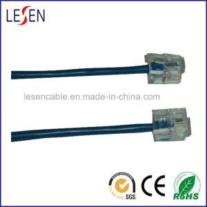 6p2c Round Phone Cords with PVC/PE/Lszh Jacket pictures & photos