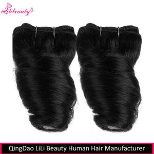 2 Bundles Short 8inch Brazilian Virgin Hair Fumi Spring Curl Hair Weave Bundles pictures & photos