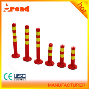 for City Road Colorful PU Warning Column Post pictures & photos
