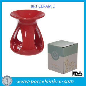 Gifts Ceramic Red Teadrop Aroma Burner pictures & photos