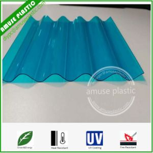 Colored / Sized Heat-Insulation Plastic Polycarbonate Solid Corrugated Roofing Skylight Sheets pictures & photos