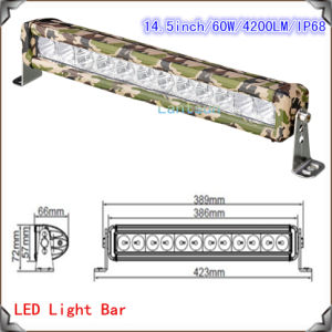 CREE Camouflages LED Light Bar for Trucks (LED13-60W) pictures & photos