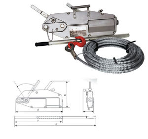 Hot Style Strong Wire Rope Hand Winch Puller pictures & photos