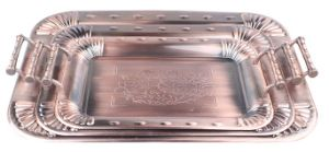 Antique Copper Tray with Chrysanthemum Design pictures & photos