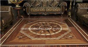 Wooden Art Designed Parquet Inlay Flooring Customised Pattern