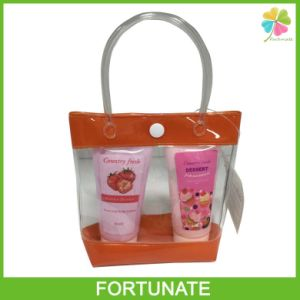 Soft PVC Shopping Tote Bag with Button Closure Packaging pictures & photos