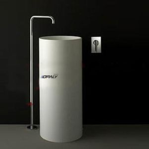 Lavabo sur pied ext rieur plein acrylique de 100 lavabo for Lavabo exterieur