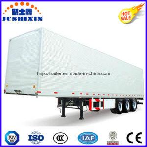 Factory Price 40ton Capacity Aluminium Wing Van/Box Utility Trailer with Electric Control Door pictures & photos