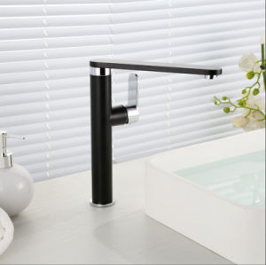 Single Lever Black Color Basin Faucet pictures & photos