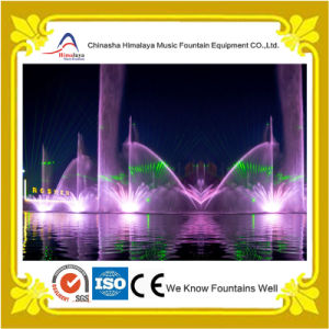 Music Fountain with Laser and Projection