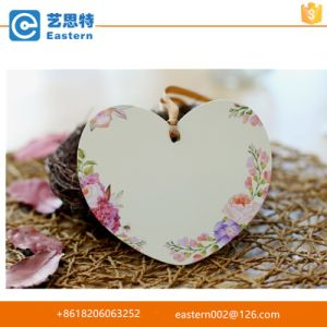 Bright Color Heart Shape Gift Hang Tags with Punched Hole pictures & photos