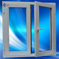 White Double Pane PVC Casement Window