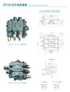 DF80.3-3OT-J Hydraulic Directional Control Diverter Valve Types Manufacture 3 Spool pictures & photos