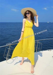 Fashion Ladies Long Dress/Cotton Beach Dress