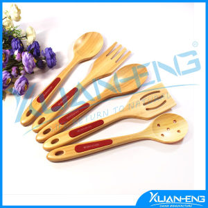 5 Piece Bamboo Kitchen Cooking Slotted Spoon pictures & photos