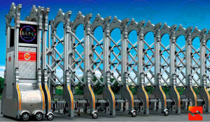 Stainless Steel Main Entrance Electric Folding Gate (J-1306) pictures & photos