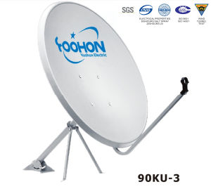 90cm Offset Satellite Dish Antenna with Wind Tunnel Certification pictures & photos