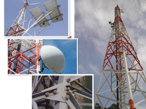 Steel Galvanized Triangle Tower / Three Tube Telecom Tower pictures & photos