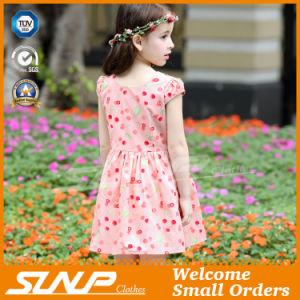 High Quality Girls Flowers Dress Sleeveless Children Wear