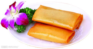 IQF Frozen 100% Hand Made Vegetable 17g/Piece Cylinderical Elongated Spring Rolls pictures & photos