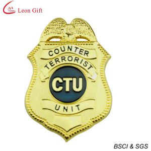 Hard Enamel Gold Police Badge for Souvenir (LM1756) pictures & photos