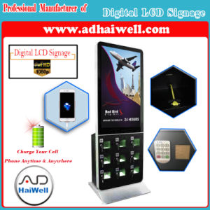 "42"" LCD Screen Digital Signage Player Kiosk Free Mobile Cell Phone Charging Station pictures & photos"