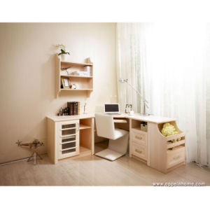Oppein Office Wood Study Computer Desk Table with Bookcase (ST11215) pictures & photos