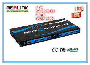 4k*2k HDMI Splitter 1X8 Support 3D 1.4V HDMI pictures & photos