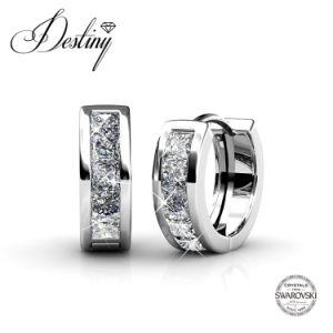 Destiny Jewellery Crystal From Swarovski Round Hoop Earrings