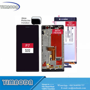 for Huawei P7 LCD Ascend P7 Touch Screen Digitizer Assembly with Frame