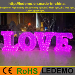 LED Decorative 3D Character Light (3D-LOVE) pictures & photos