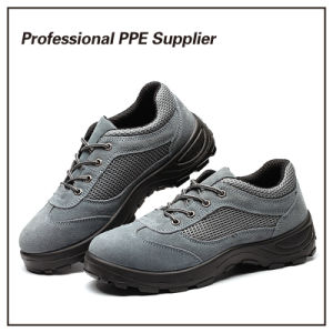 Suede Leather Lightweight Breathable Safety Footwear pictures & photos