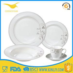 Cheap Ceramic Bone Dinnerware Dinner Plate Set Service for 4 pictures & photos