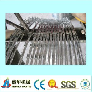 Razor Barbed Wire Mesh Machine Nine Strips pictures & photos