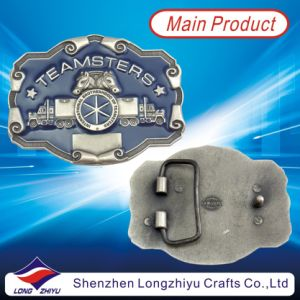Fashion Custom Enamel Embossed Logo Horse Western Belt Buckles (LZY201300001) pictures & photos