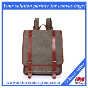 Vintage Duffel School Bag Canvas Backpack Damen Rucksack (SBB-036) pictures & photos