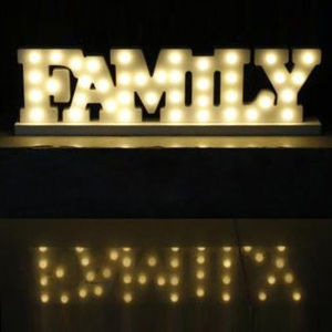 New Letter LED Marquee Sign Alphabet Night Light