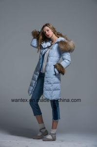 Ladies Loose Down Coat Fashion 80% Eiderdown Autumn Winter Blue Warm pictures & photos