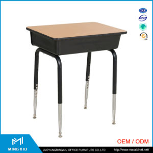 Luoyang High Quality Middle School Desk and Chair / Single Student Chairs and Table pictures & photos